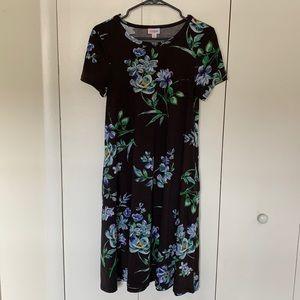 Gorgeous Blue/Black Floral Dress
